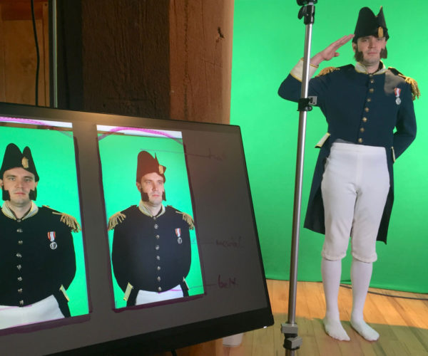 shooting video with green screen
