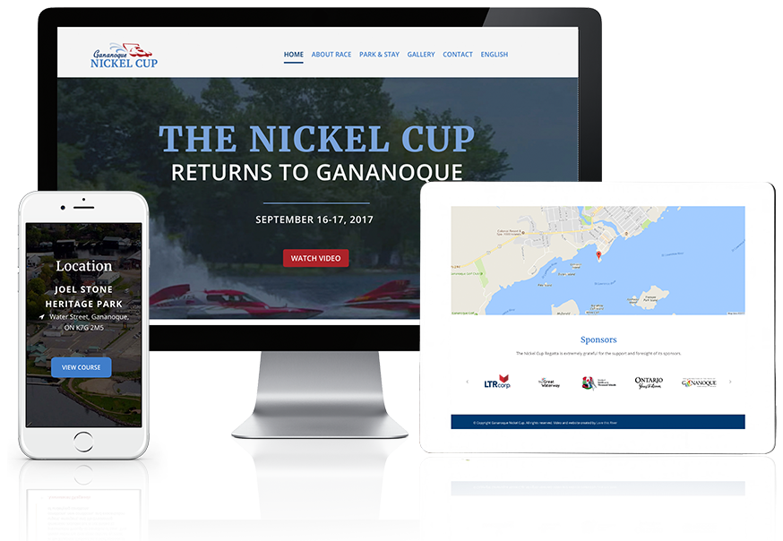 Nickel Cup Website shown on various devices