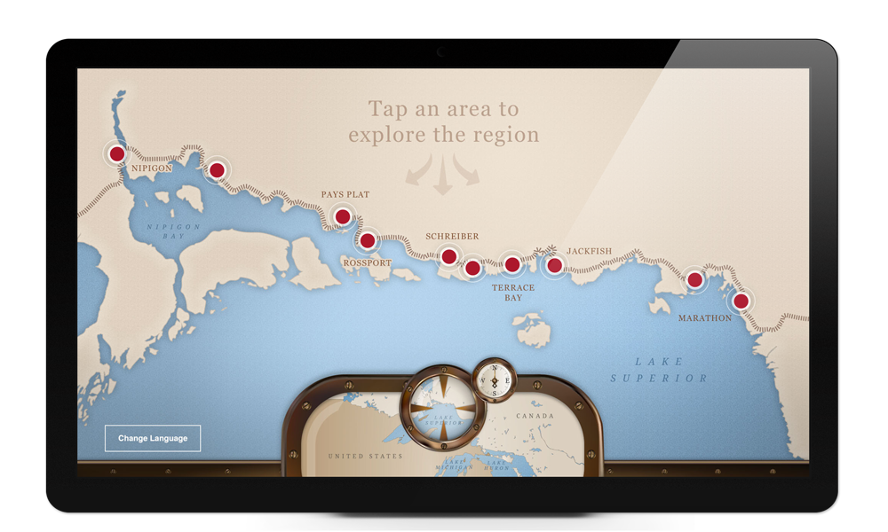 Touch Screen map